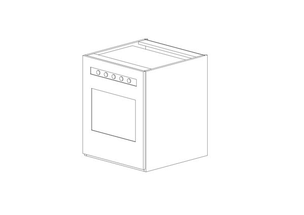 Cabinet under the stove TANDEM