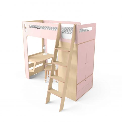 Parvi-sänky Smart Cube vaaleanpunainen