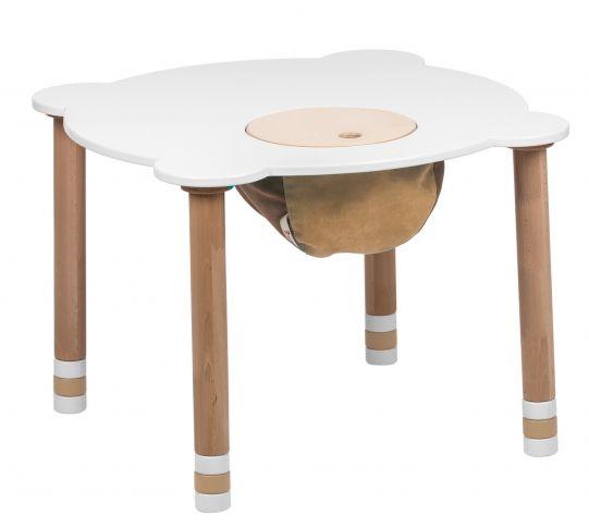 Pyöreä valkoinen pöytä