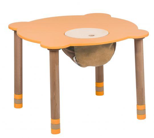 Pyöreä pöytä oranssi