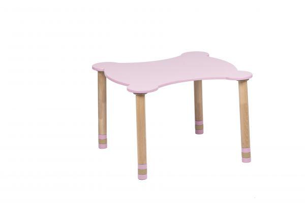 Kihara pöytä vaaleanpunainen