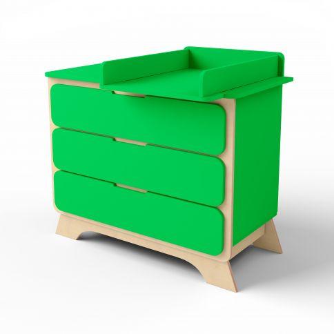 Lipasto, jossa hoitopöytä Nova vihreä / luonnonpuu