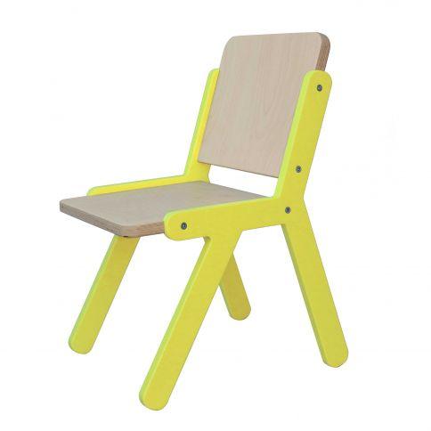 Lasten tuoli Lines 2 keltainen