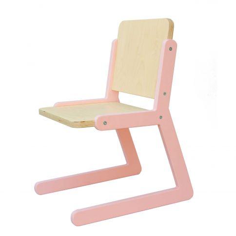 Lasten tuoli Lines 1 vaaleanpunainen