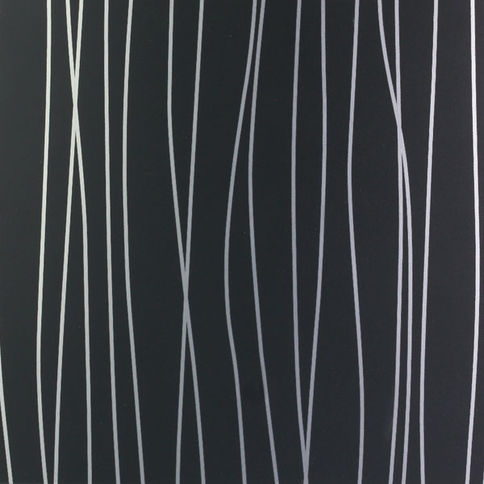 MDF panel Polymatt / Rain U1200 Black NIEMANN