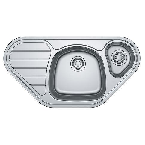 Stainless steel sink. SKX 651-E polished Franke (101.0510.141)